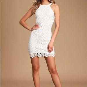Lulu's Mini White Lace Dress XS Like New
